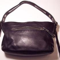 Coach Black Leather Classic Satchel Hobo Tote Shoulder 1417 Photo
