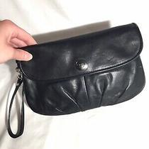 Coach Black Leather Clutch Purse Fold Over Photo