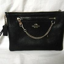 Coach Black Leather Clutch - Wristlet - Msrp   298.00 - Pre-Own  Photo