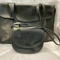 Coach- Black Leather Crossbody & Messenger Bag Photo
