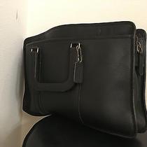 Coach  Black Leather Design Briefcase Photo