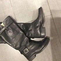 Coach Black Leather Full Length Boots Size 5 Photo