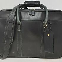 Coach Black Leather H8s-0588 Briefcase Laptop Messenger Shoulder Bag Photo