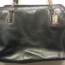 Coach Black Leather Handbag Photo