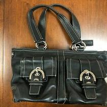 Coach Black Leather Handbag - Photo