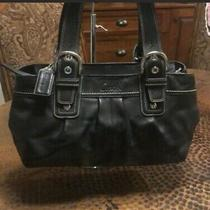 Coach Black Leather Handbag Used Photo