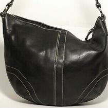 Coach Black Leather Hobo Bag L0751-F10907 Photo