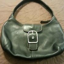 Coach Black Leather Hobo Bag Style Purse. Photo