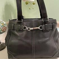 Coach Black Leather J0751-F11342- Hampton Hobo Handbag W Silver Tone Hardware Photo