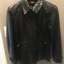 Coach Black Leather Jacket Women Size 8 Excellent Condition. Photo