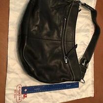 Coach Black Leather Large Hobo Photo