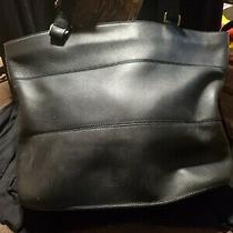 Coach Black Leather Large Tote Photo