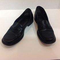 Coach Black Leather Loafers 7 Photo