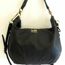 Coach Black Leather Madison Convertible Hobo Purse 15929 Photo