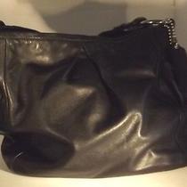 Coach Black Leather Medium  Tote Shoulder Bag 13412 Photo