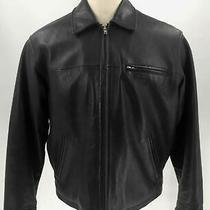 Coach Black Leather Men's Full-Zip Long Sleeve Travel Motorcycle Jacket Sz M Photo