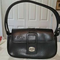 Coach Black Leather Mini Convertible Wristlet Baguette in Great Condition Photo