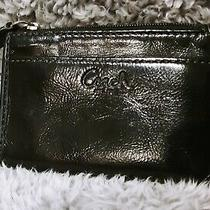 Coach Black Leather Mini Skinny Key Chain Coin Id Case Euc Photo