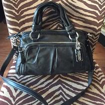 Coach Black Leather Parker Satchel Photo