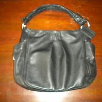 Coach Black Leather Purse Photo