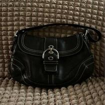 Coach Black Leather Purse Handbag Photo
