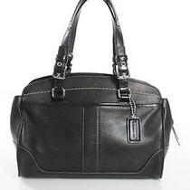 Coach Black Leather Satchel Handbag Photo