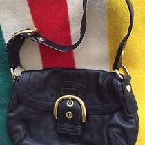 Coach Black Leather Shoulder Bag Photo