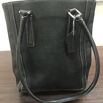 Coach Black Leather Shoulder Bag A1p-9429  Tote Purse Hang Tag Photo