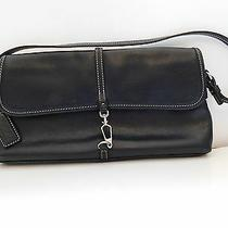 Coachblack Leather Shoulder Clutch Baguette Handbag G2j-7573 Photo