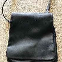 Coach Black Leather Sling / Messenger Bag Photo