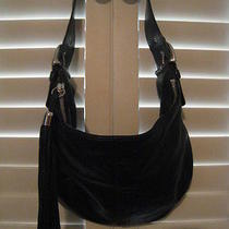 Coach Black Leather Small Shoulder Bag/purse Photo