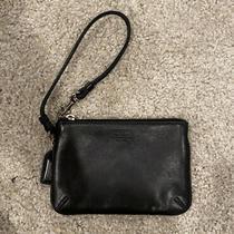Coach Black Leather Small Wristlet Photo