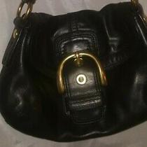 Coach Black Leather Soho Buckle Flap Shoulder Bag F11840 Euc Photo
