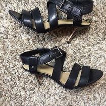 Coach Black Leather Strappy Rapture Sandals Shoes Sz 8.5 B Photo