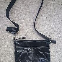 Coach Black Leather Swing Pack Purse Bag Photo
