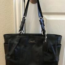 Coach Black Leather Tote Bag Photo
