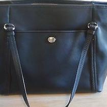 Coach Black Leather Tote Handbag With Wallet at Buy It Now Price Photo
