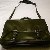 Coach Black Leather Unisex Briefcase/laptop/messenger Bag F06455 Photo