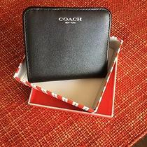 Coach Black Leather Wallet Photo
