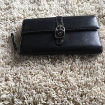 Coach Black Leather Wallet Photo