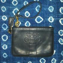 Coach Black Leather Wristlet Wallet With Zipper and Wrist Strap Small Photo