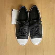 Coach Black Leather Zip Sneakers Size 6 Photo