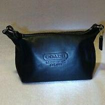 Coach Black Leatherware 1941 Purse Clutch Bag Excellent Condition  Photo