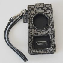 Coach Black Legacy Signature Mp3 Mini Ipod Nano Wristlet Case Photo
