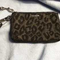 Coach Black Leopard Wristlet New Without Tags Photo