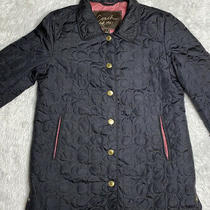 Coach Black Lightweight Quilted Jacket Size Small Photo