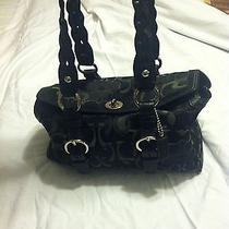 Coach Black Medium Satchel Handbag Excellant Condition W/free Shipping. Photo