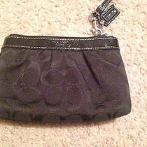 Coach Black Medium Wristlet Photo