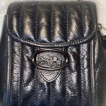 Coach Black Melody Convertible Small Backpack Purse Black Quilted Euc Photo