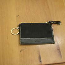 Coach Black Mini Key Ring/coin Purse  Photo